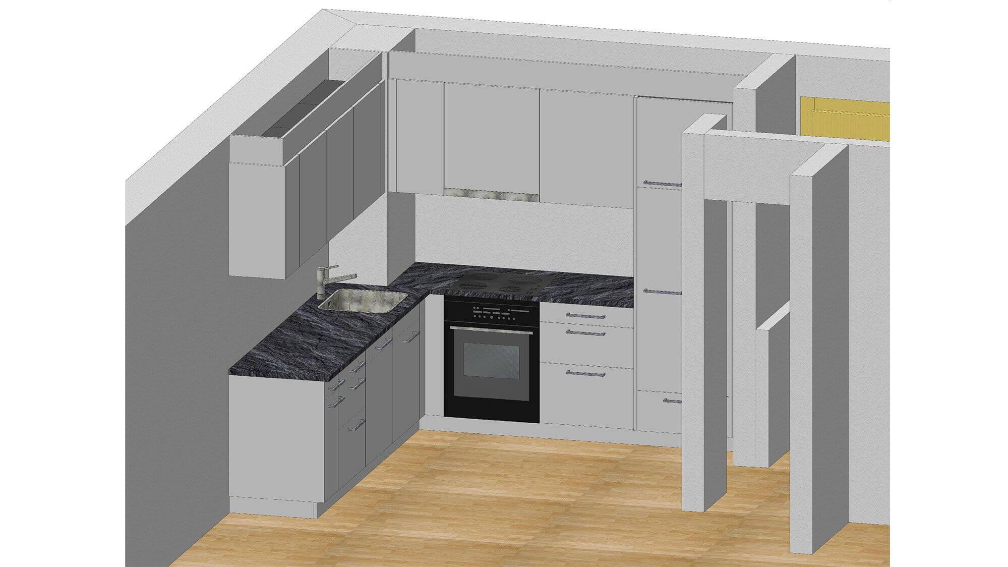 Eilinger Holz Küchenvisualisierung